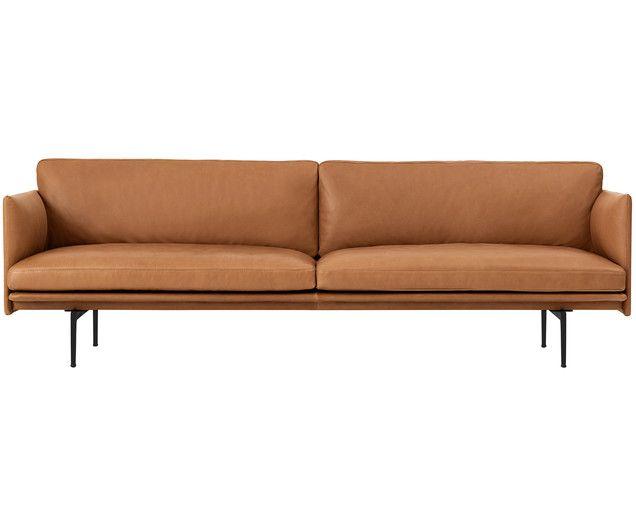 Leder-Sofa Outline (3-Sitzer) Jetzt bestellen unter   - wohnzimmer couch leder