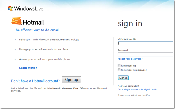 Hotmail login account Page | Hotmail sign in, Windows ...
