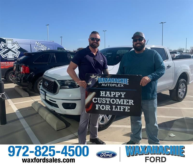 Congratulations John on your from Justin Bowers at Waxahachie Ford!