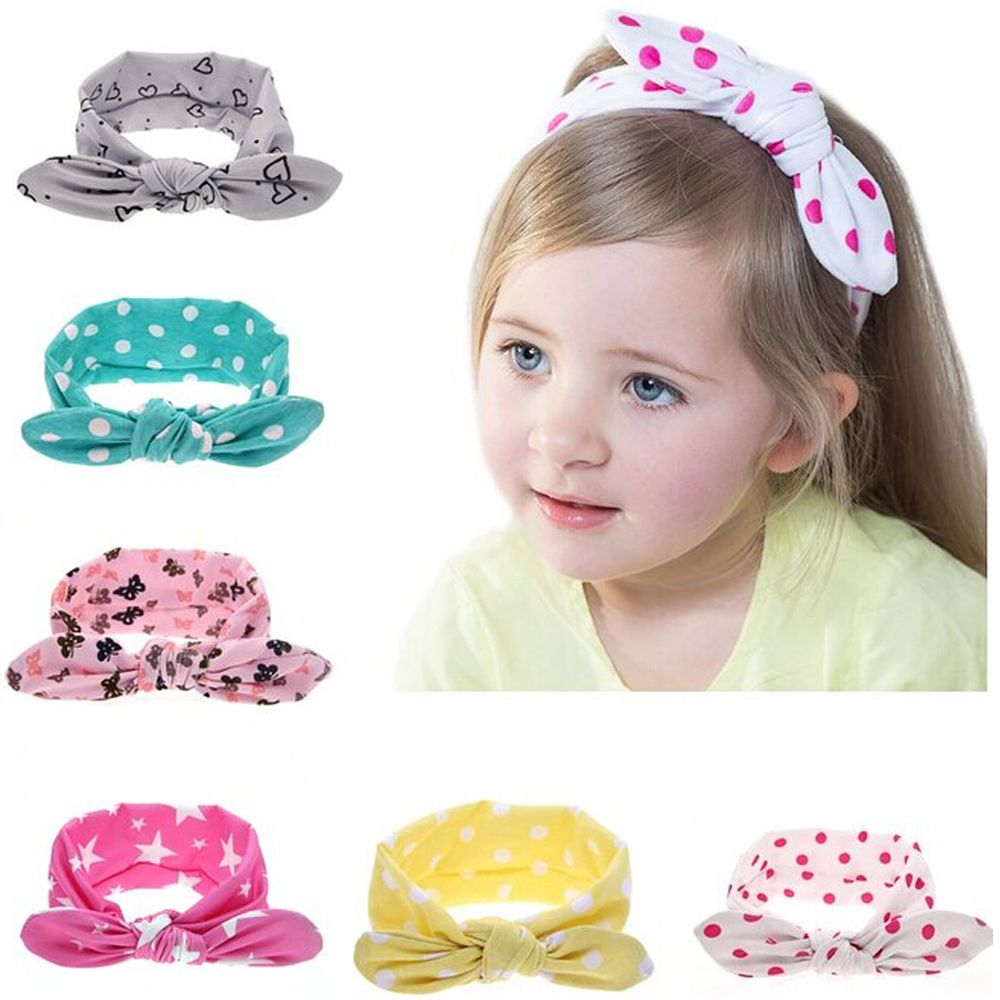 أطفال لطيف عقدة مرونة الشعر الفرقة الوليد الاكسسوارات القطن عقال آذان أرنب الشعر خاتم الشعر اكسسوارات W18 Kids Hair Accessories Knot Headband Bow Knot Headband