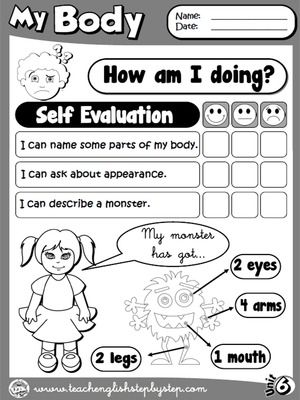 My Body - Self Evaluation (B\W version) Enkku Pinterest - self evaluation