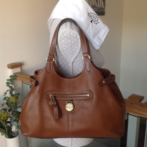 25faf046d1a 100-Genuine-Mulberry-Somerset-Tote-Oak-Pebbled-Leather-Original-Dustbag