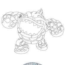BOUNCER Coloring Page All Skylanders GIANTS Pages Including This Are Free Enjoy The Wonderful World Of Sheets