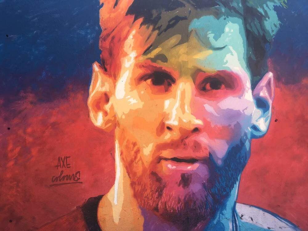 Messi Mural In Barcelona Soccer Messi Leonel Messi Messi 10