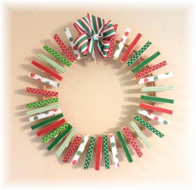 Christmas card wreath holder Great teacher gift idea Write each