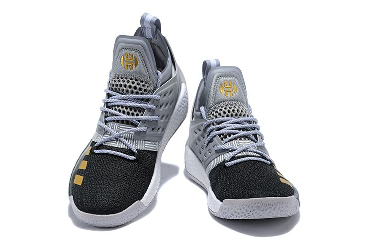 5d7c2556aa6 adidas Harden Vol. 2 Cool Grey Black-Gold Basketball Shoes in 2018 ...