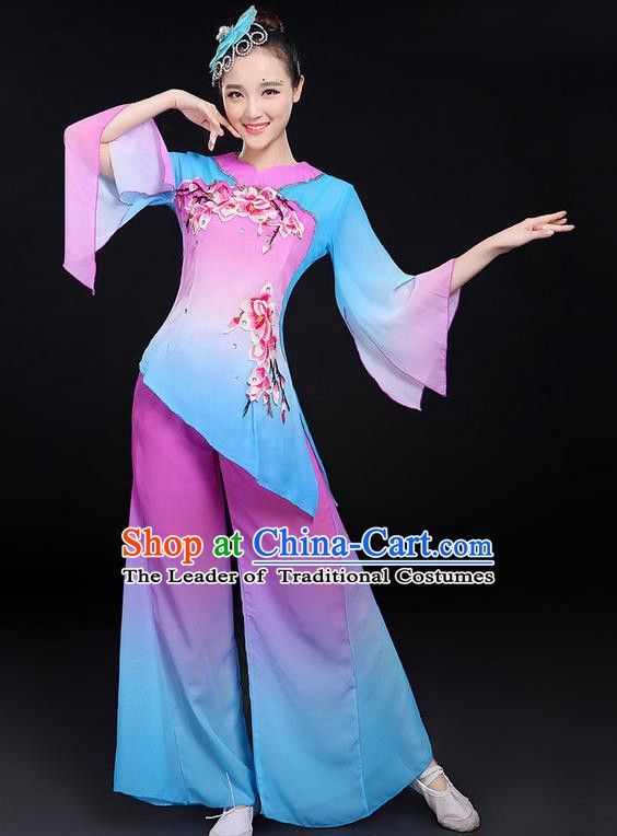 Traditional Chinese Yangge Fan Dancing Costume 3e37b860b