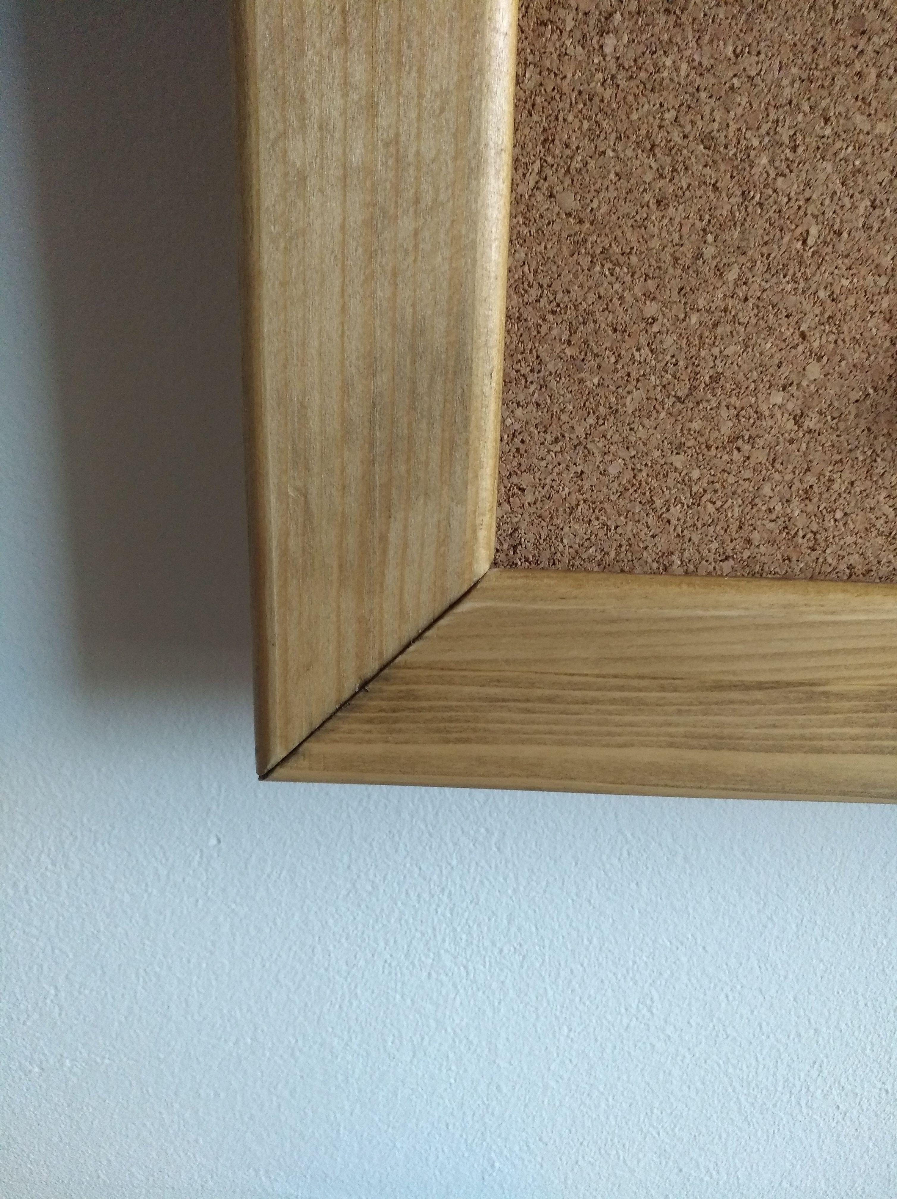 pinnwand, #rahmen die 5x5cm kiefer-profilleiste auf 45° gehrung