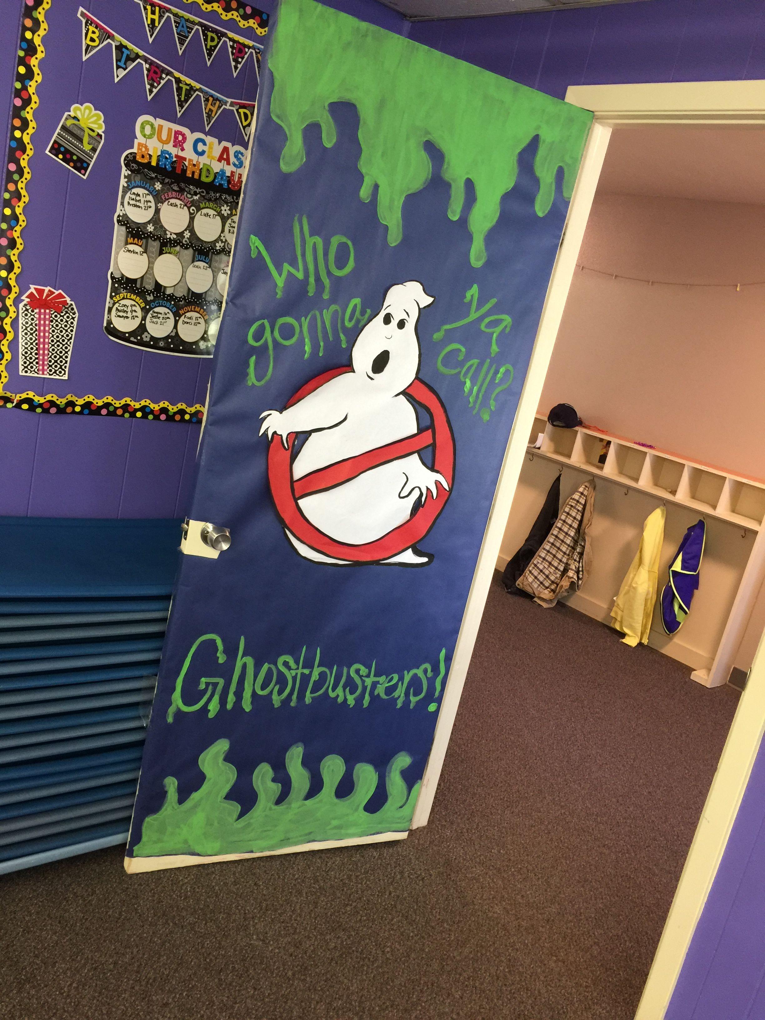 Ghostbusters door for my classroom