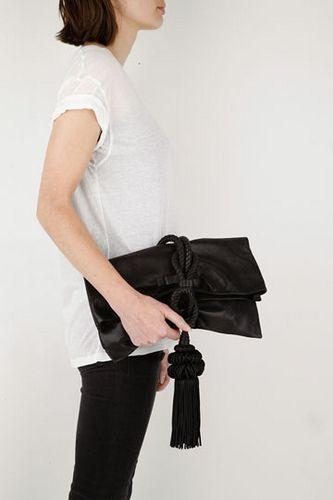 BELGIUM DESIGNER NATALIA BRILLI LEATHER CLUTCH BAG
