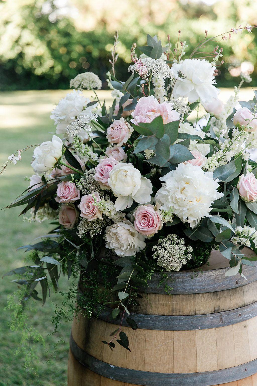 Wedding Florals Wine Barrel Wine barrel wedding