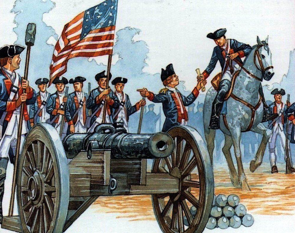 continental army artillery | american revolution art | american war