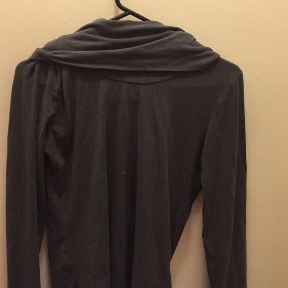 Stone gray cowl neck Perfect cotton Merona Sweaters Cowl & Turtlenecks