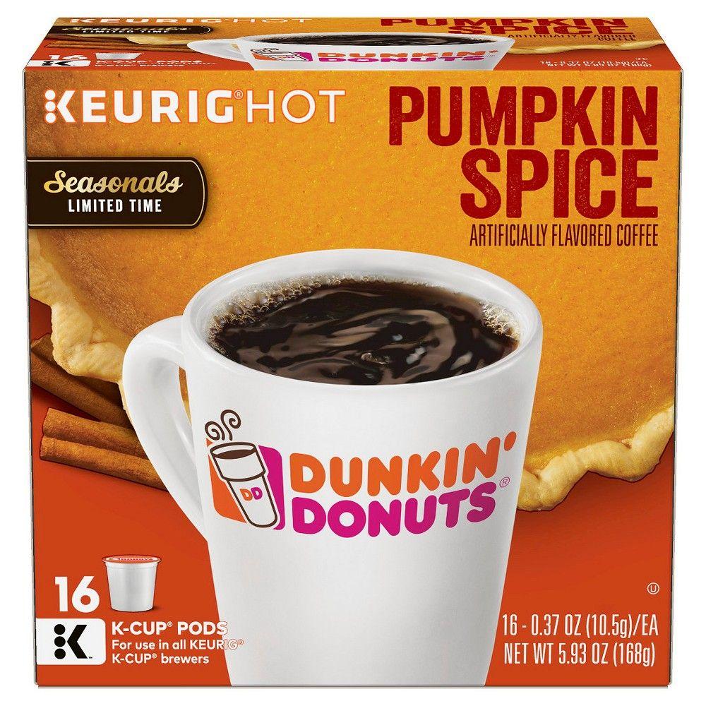 4724092e7963a Dunkin' Donuts Pumpkin Spice Medium Roast Coffee - K-Cup Pods - 16ct ...