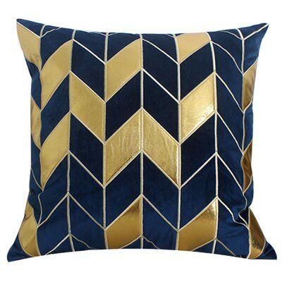 Mercer41 Varga Embroidered Faux Leather Velvet Throw Pillow Cover Pillow Art Throw Pillows Retro Pillows
