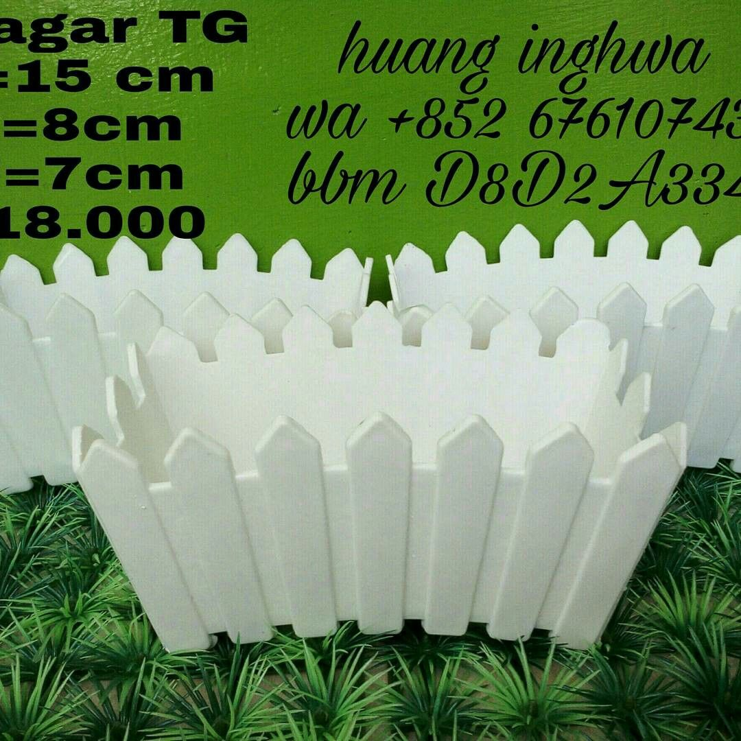 Pot Pagar Putih Pot Bunga Buket Bunga