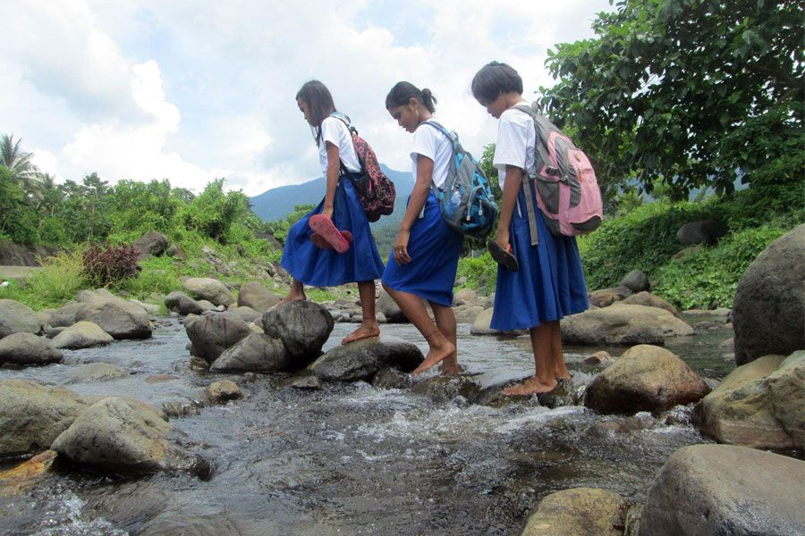 Back to school in the Philippines   It's harder for some students to get to school than others. Read about the journey these girls take each day.   UNBOUND BLOG #education #learning #global