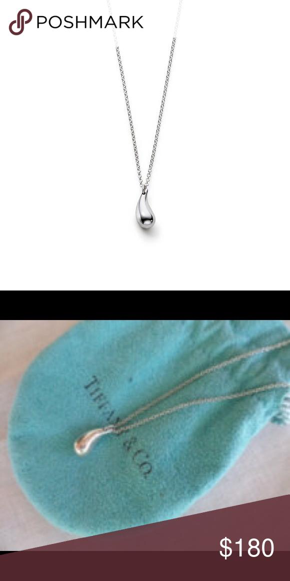 e0f965d1b Tiffany Elsa Peretti teardrop silver necklace Sterling silver, 925. Elsa  Peretti designed teardrop necklace Tiffany & Co. Jewelry Necklaces