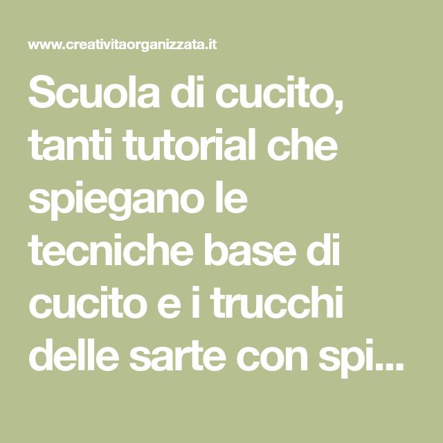 Photo of Scuola di cucito: lezioni gratis per imparare a cucire.