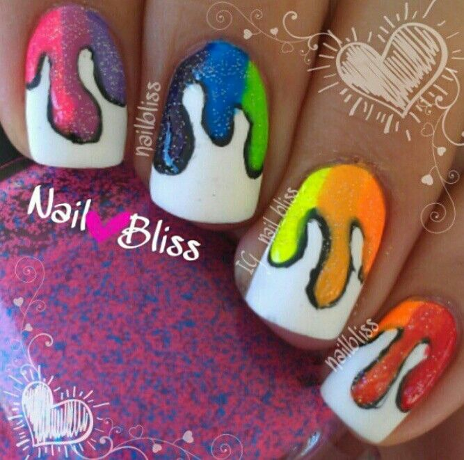 Epic nail art, i so wish I could do this!