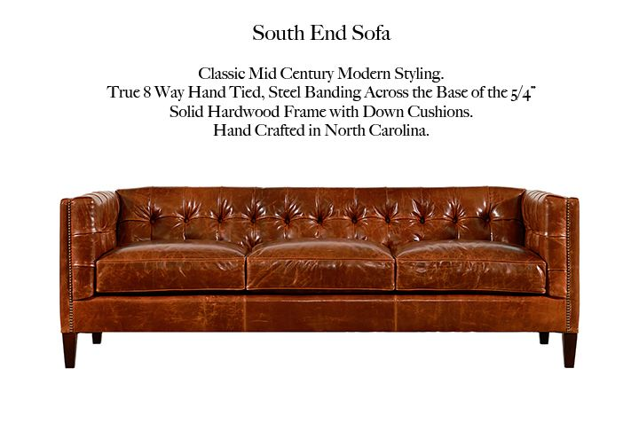 Amazing The South End By Casco Bay Furniture #CascoBayFurniture #HomeDecor  #LeatherFurniture #ChesterfieldLeather #