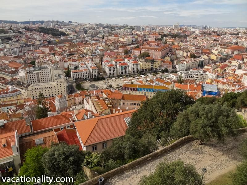 Lisbon, view from St. George Castle