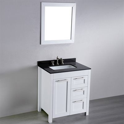 Bosconi Sb 267 1 30 In Contemporary Single Sink Bathroom Vanity With Granite