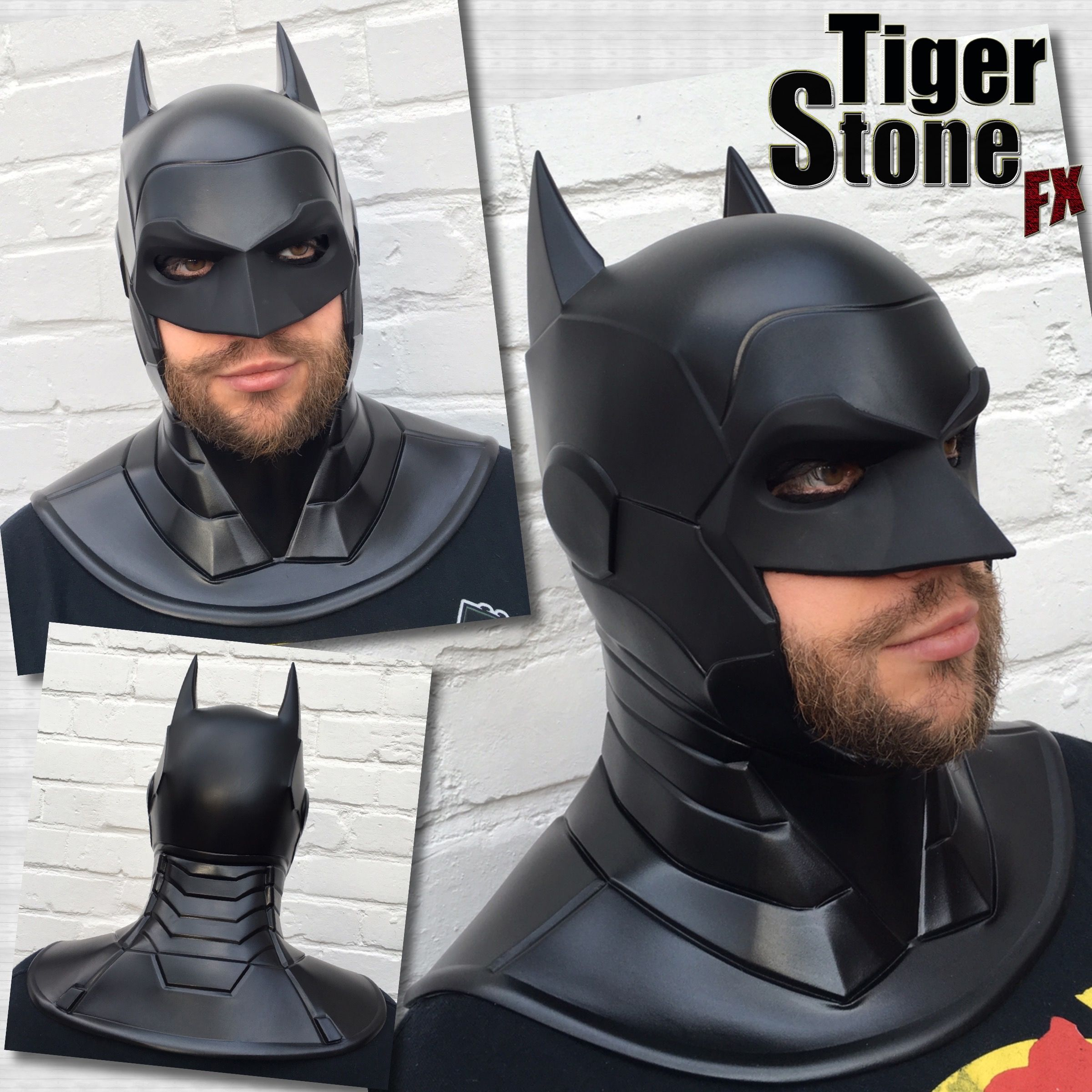 batman armored new 52 inspired cowl comes as 1 piece but