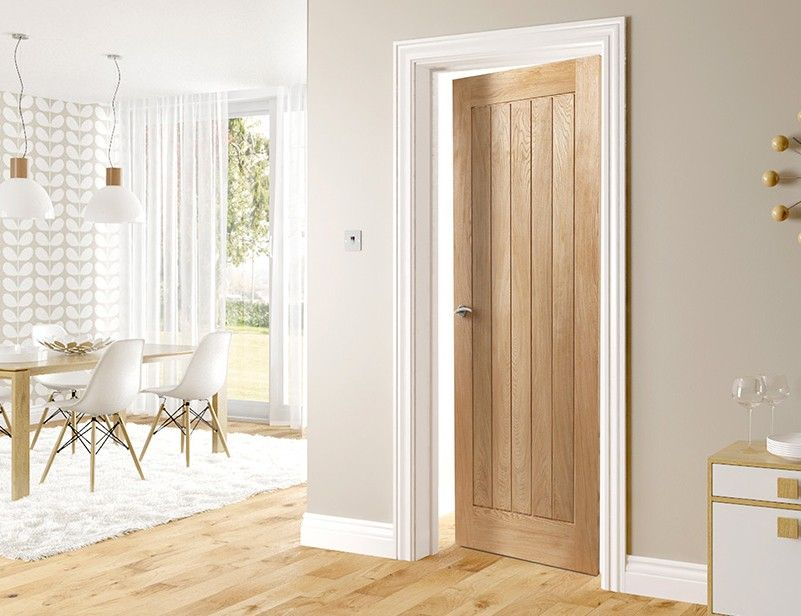 Oak Door With White Skirting And Architraves Stay At