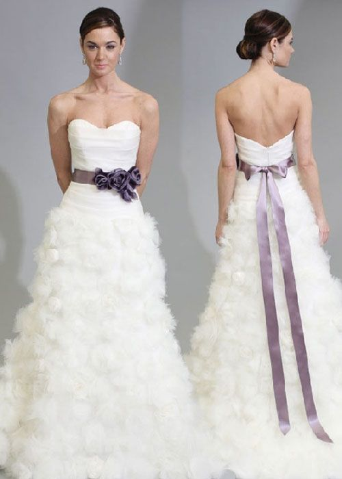 White wedding dresses with purple beautiful wedding for White wedding dress with black accents