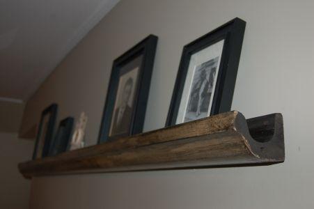 Cool Shelf Idea For Vintage Wooden Gutters Wooden