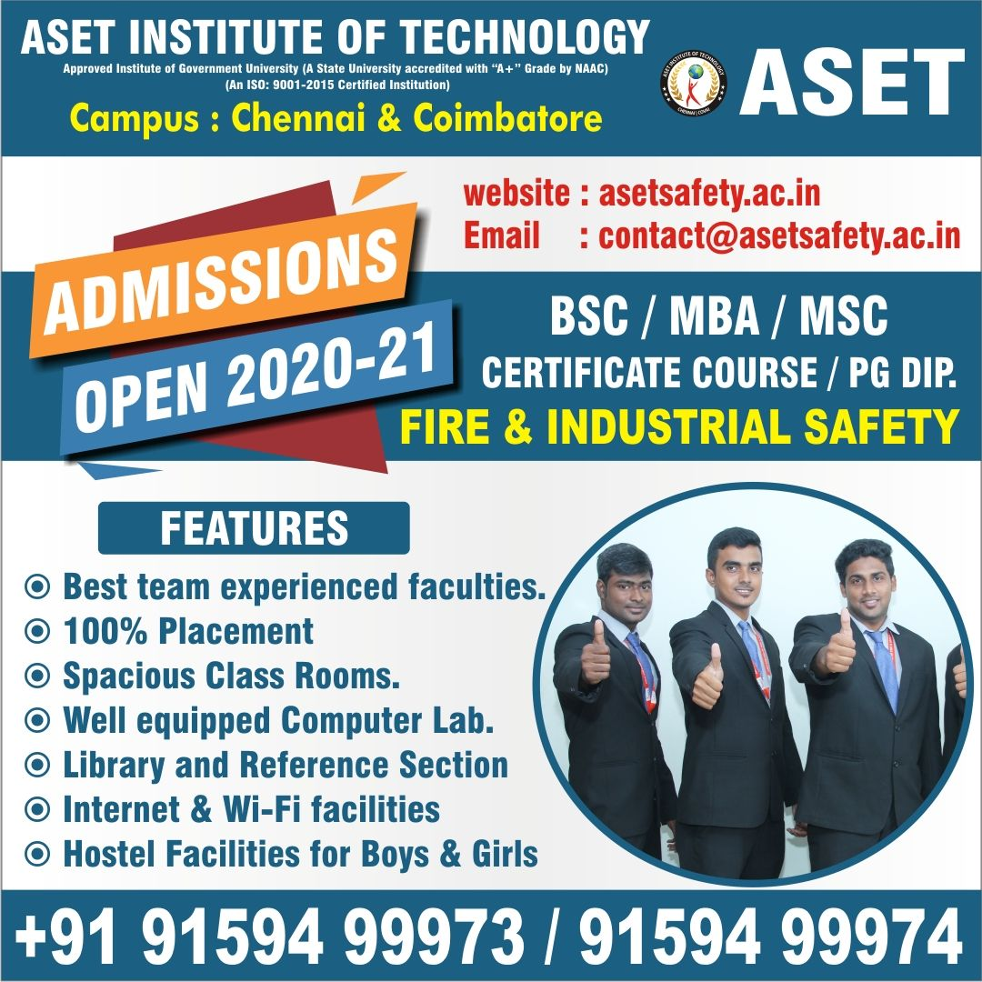 Aset Institute Of Technology Industrial Safety Technology Health And Safety