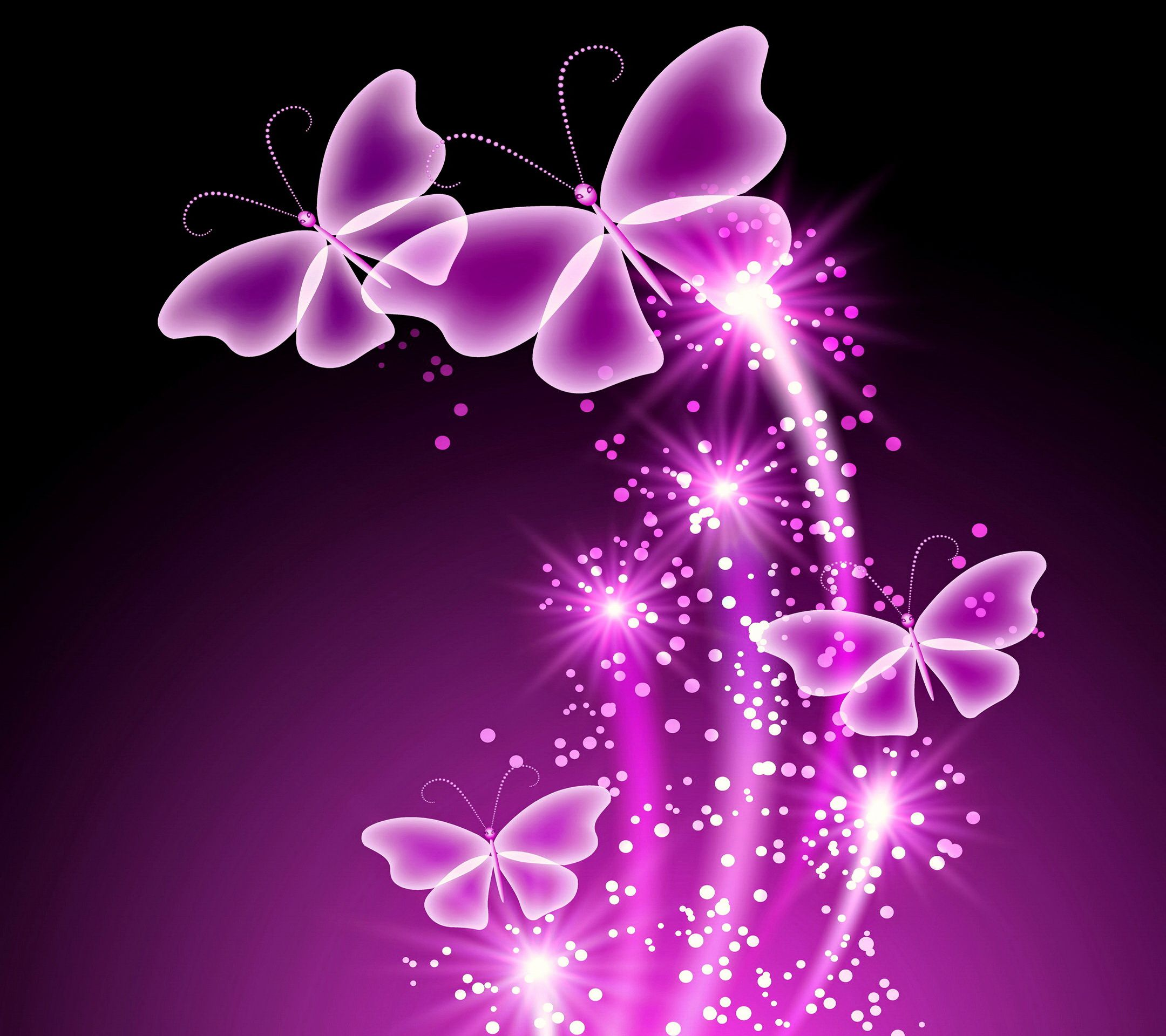 Neon Butterflies Deskt... Neon Butterfly Wallpaper