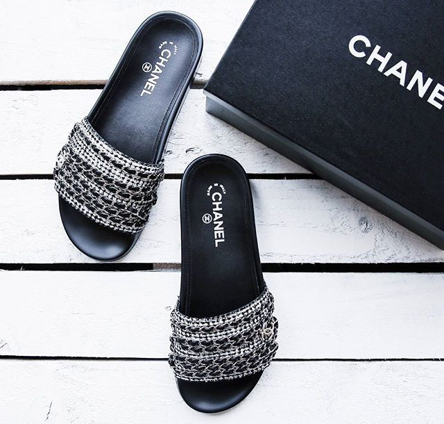 aa45c45adb502 The must-have this season. Chanel sliders