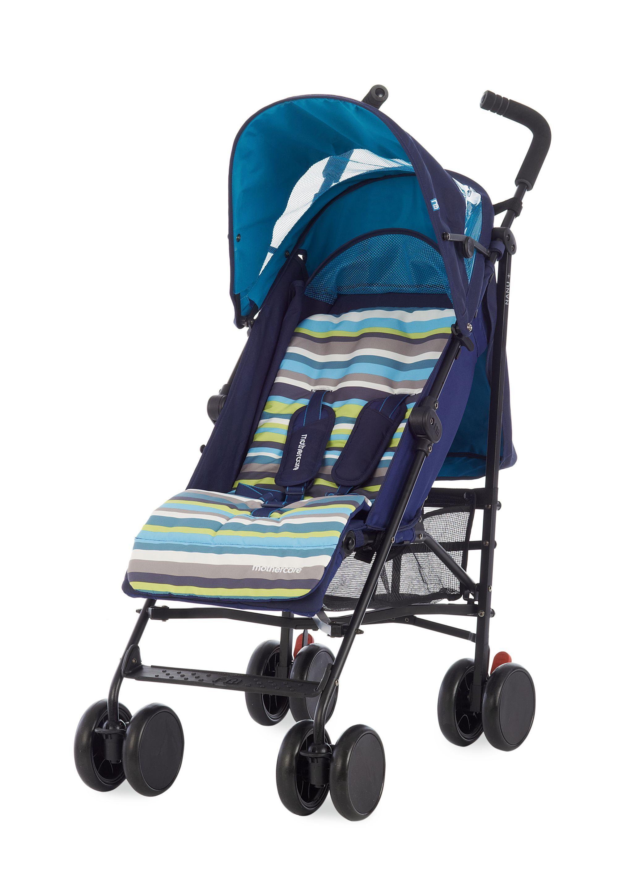 Mothercare Nanu+ Stroller Blue Stripes Stroller