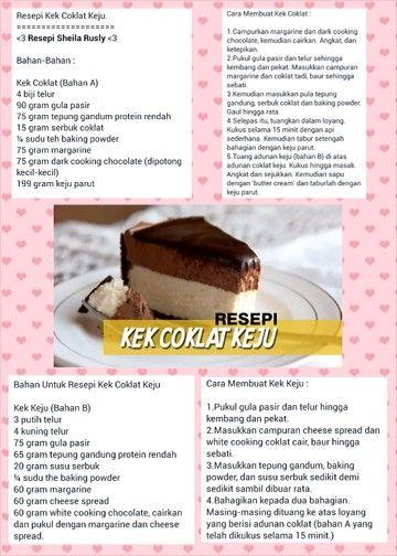 RESEPI KEK COKLAT KEJU | resepi kek | Cake cookies, Cake ...