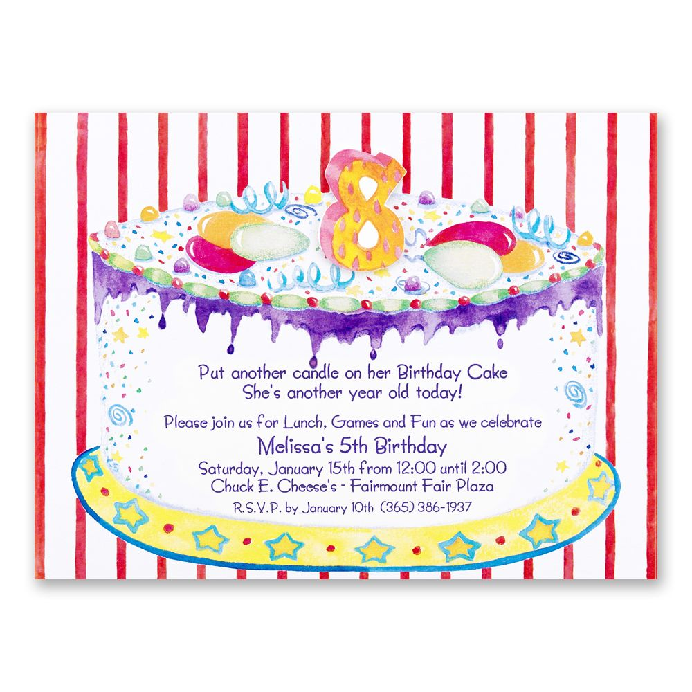 8th Birthday Party Invitations Wording | Birthday party invitation ...
