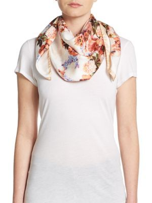 Blumarine floral scarf Whole World Shipping Cheap Sale Countdown Package Best Prices lOG8Dvlbe2