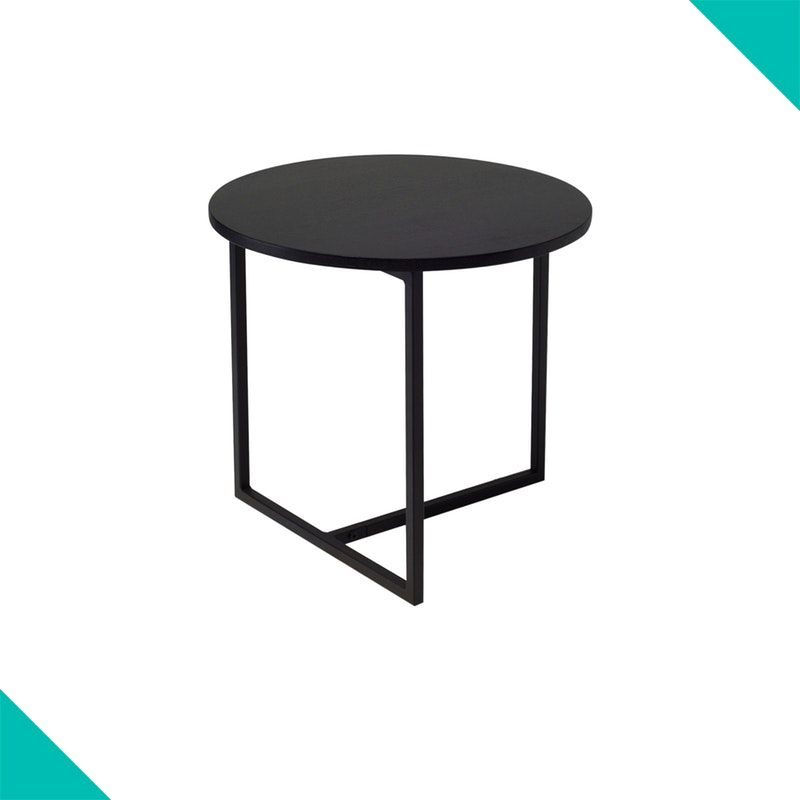 Felicity Round Side Table Black Ash Round Side Table Black Black Side Table Side Table