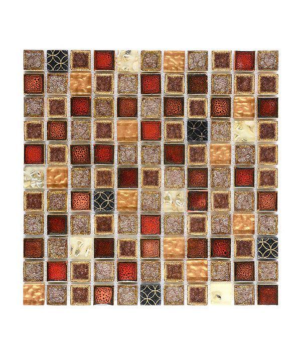 Md1105 Red Beige Glass Ceramic Mosaic Tile Tile Backsplash