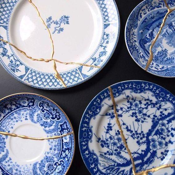 Kintsugi Ou L Art De Réparer Les Céramiques Avec De L Or A Part ça Art Japonais Ancien Ceramique Porcelaine Japonaise