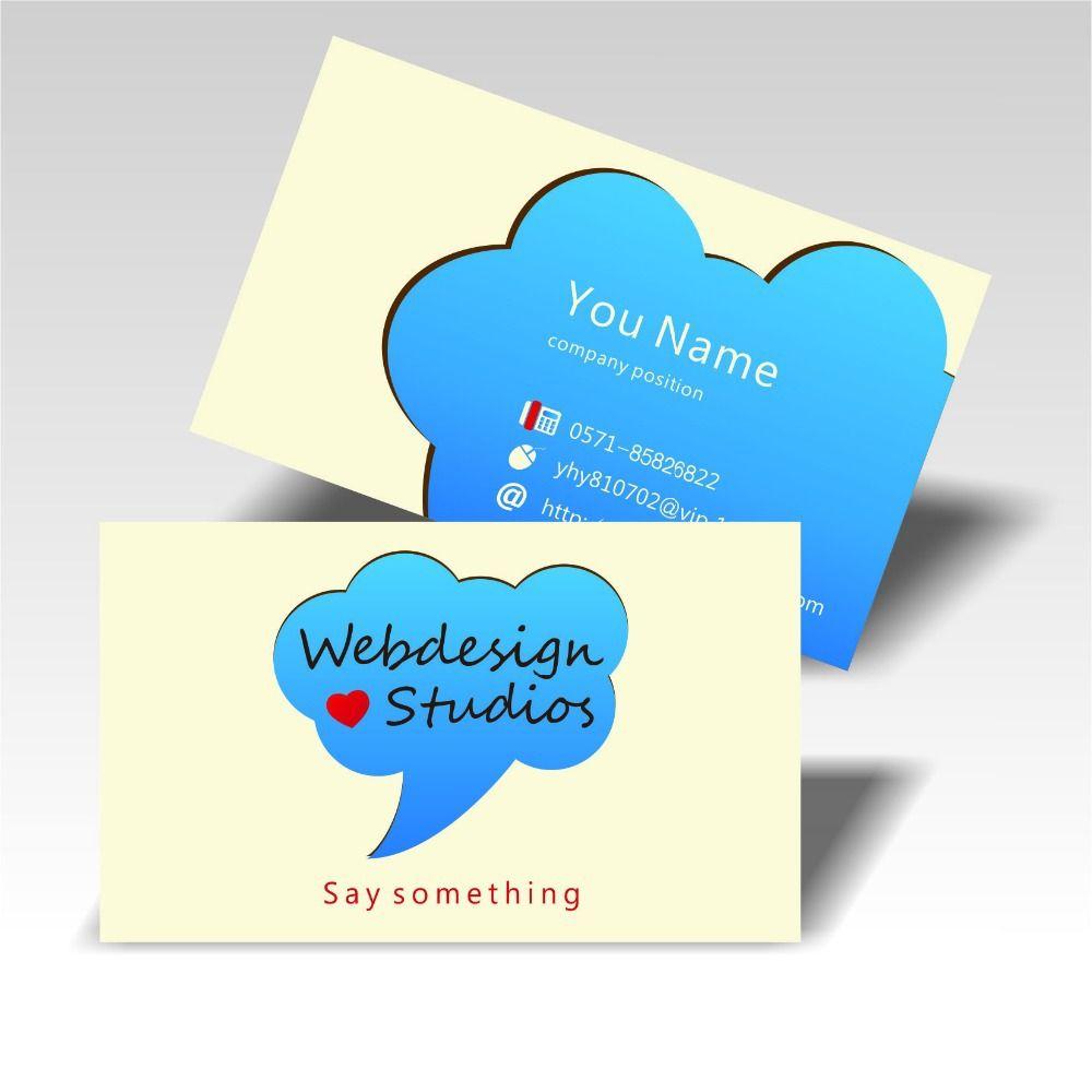 2016 free design custom business cards coated paper cmyk