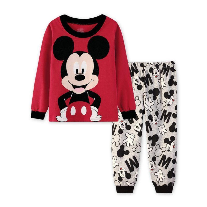 Toddler Girls Cartoon Characters Pajamas Kids Long Sleeve Shirt/&Pant Sets 100/% Cotton Clothes Cartoon Sleepwears
