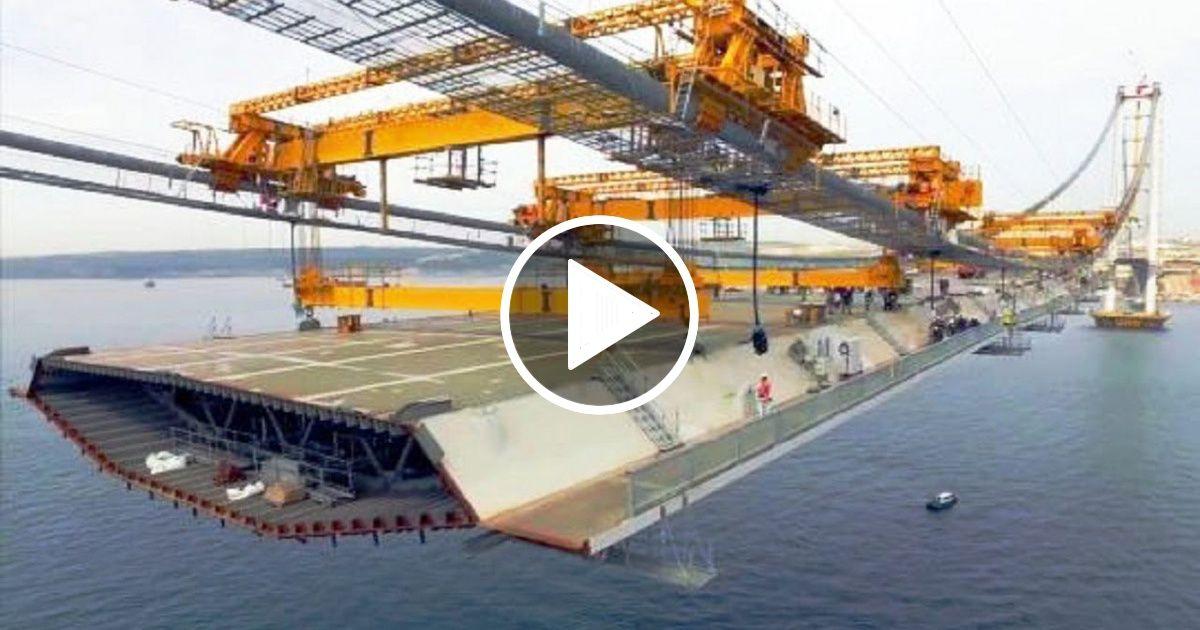 World Amazing Modern Suspension Bridge Construct Machines Latest Technology Construction Machinery Bridge Construction Bridge Structure Construction