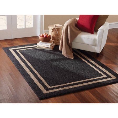 Mainstays Frame Border Rug Available In Multiple Colors And Sizes Walmart Com Area Rugs Rugs Area Rug Sets