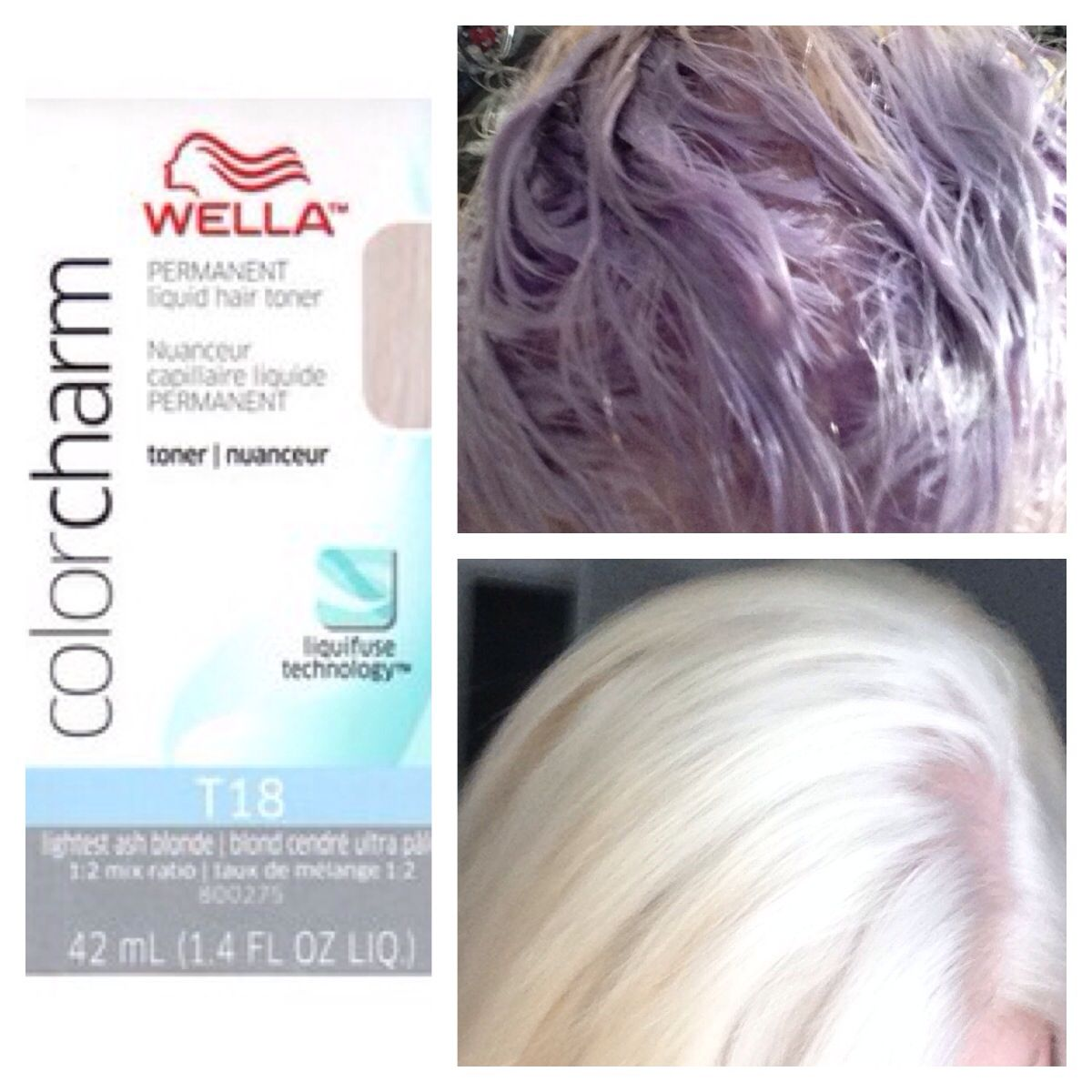 right after doing my root touch i used wella t18 to tone down the brassiness... i used 1 oz ...