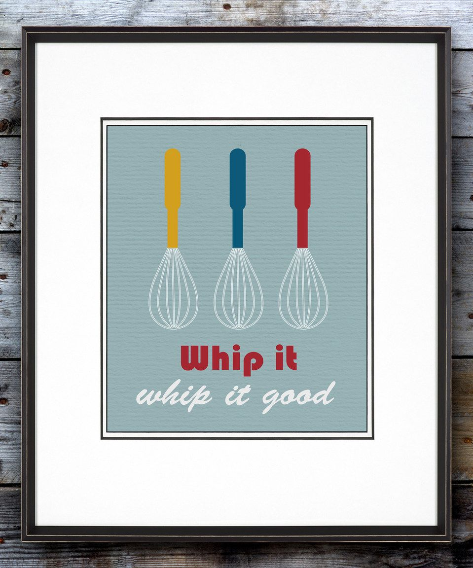 Blue 'Whip it Good' Print by BirdRow