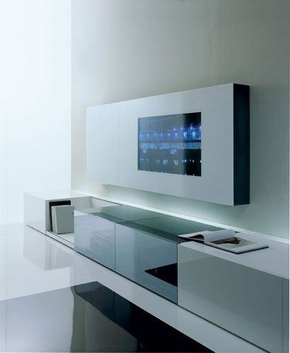 Fesselnd Wall Unit By Acerbis, Audio/video Unit With Concealed Loud Speakers _