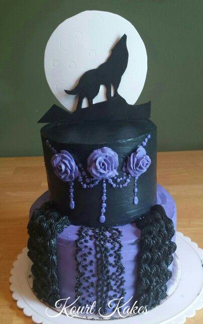 Gothic Wolf Cake
