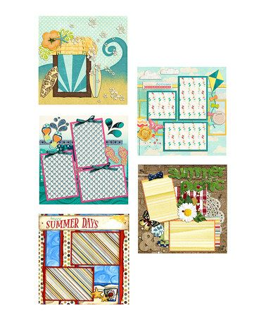 Loving This Summer Double Page Scrapbook Layout Set Of Five On